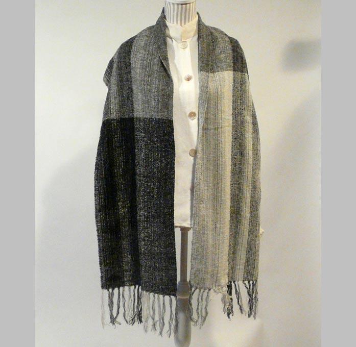 écharpe-soie-velours-laine