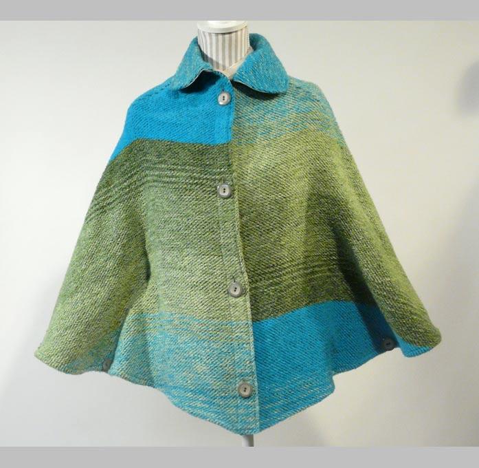 veste cape velours de laine